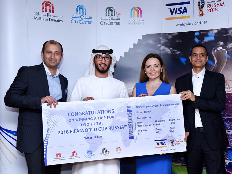 Majid Al Futtaim shoppers win once-in-a-lifetime chance to attend 2018 FIFA World Cup™ in Russia, courtesy of Visa